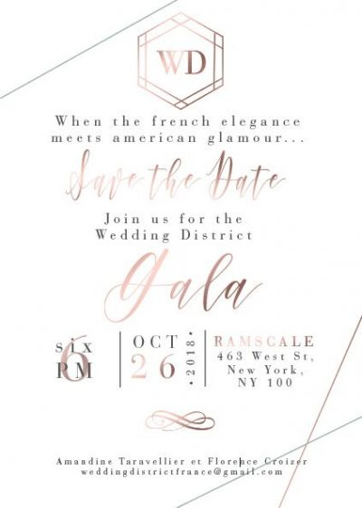 Premier Gala du Wedding District à New York – 26 octobre 2018